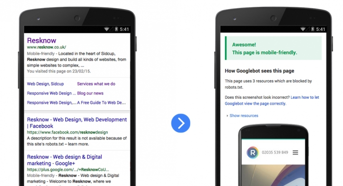 Google to reward mobile friendly websites